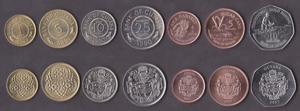 Монеты гайаны сколько стоит 5 копеек 1992 года украина