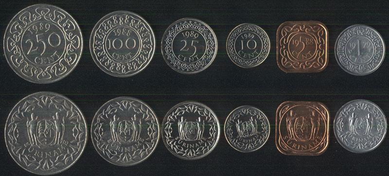 Монеты суринама memel